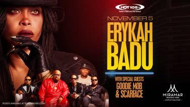 Win tickets to see Erykah Badu