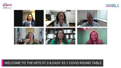 HITS 97.3 & EASY 93.1 Covid-19 Vaccine Roundtable hosted by Kimmy B and Giselle Andres