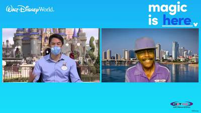 James T talks to Walt Disney World Ambassador, Stephen Lim